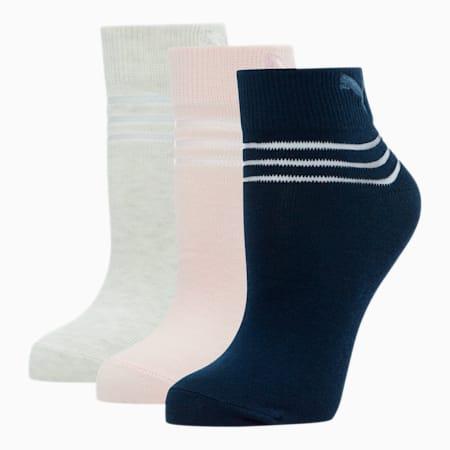 Calcetines deportivos para mujer (paquete de 3), ROSADO, pequeño